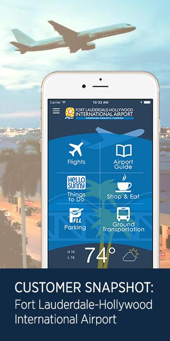 Phunware Fort Lauderdale hollywood international airport customer snapshot